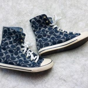 Coach Denim High Top Sneakers